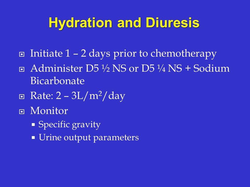 Hydration and Diuresis