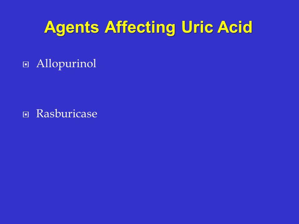 Agents Affecting Uric Acid