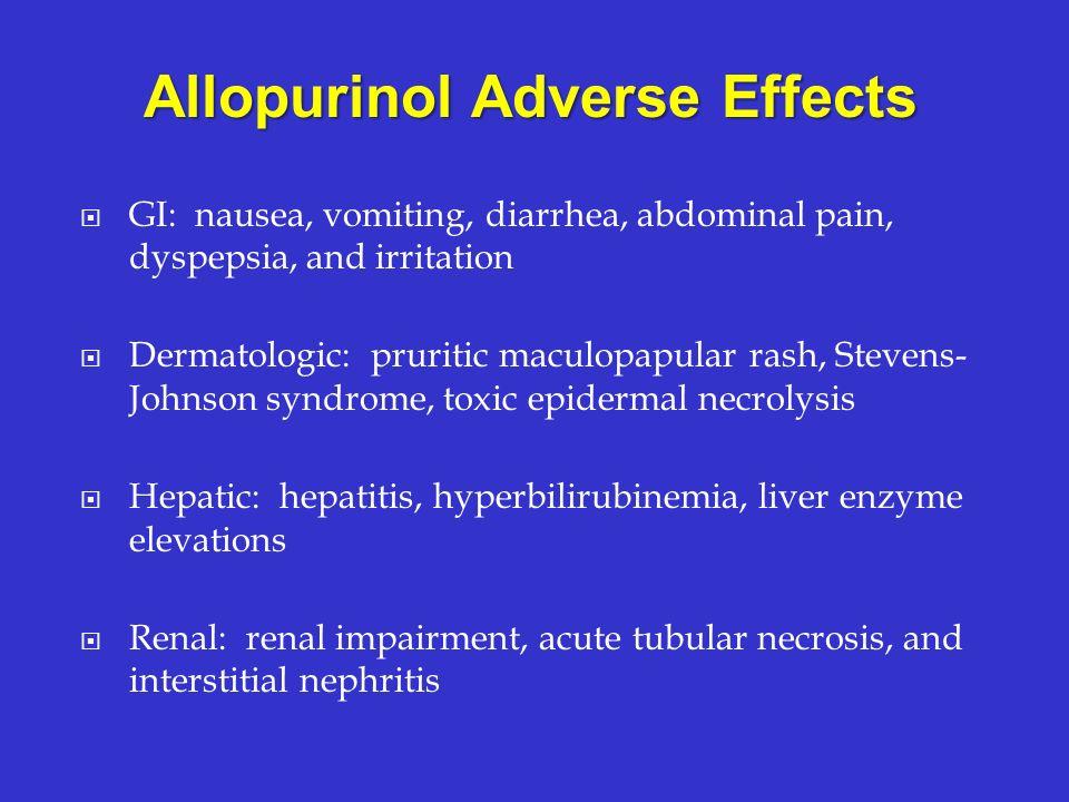 Allopurinol Adverse Effects
