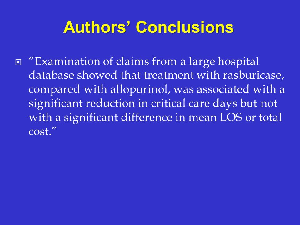 Authors' Conclusions