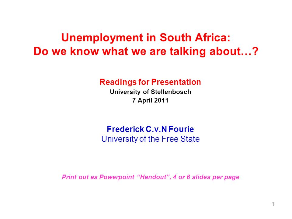 Unemployment in South Africa: Do we know what we are talking about…