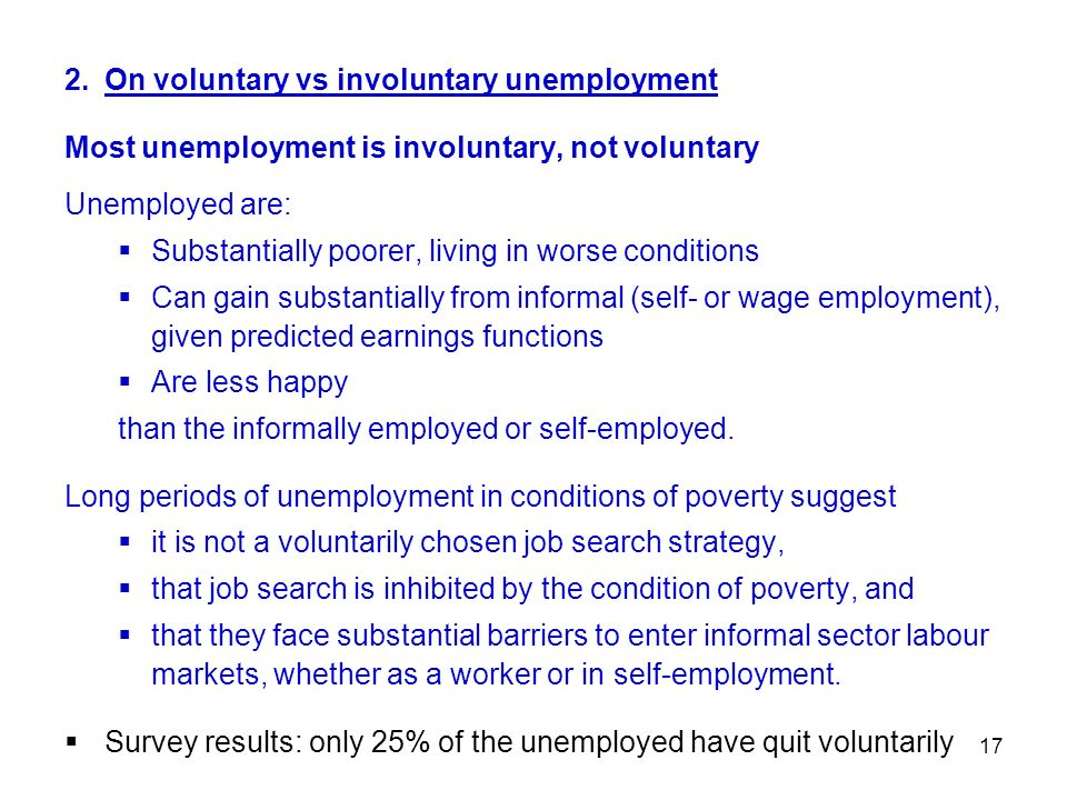 2. On voluntary vs involuntary unemployment