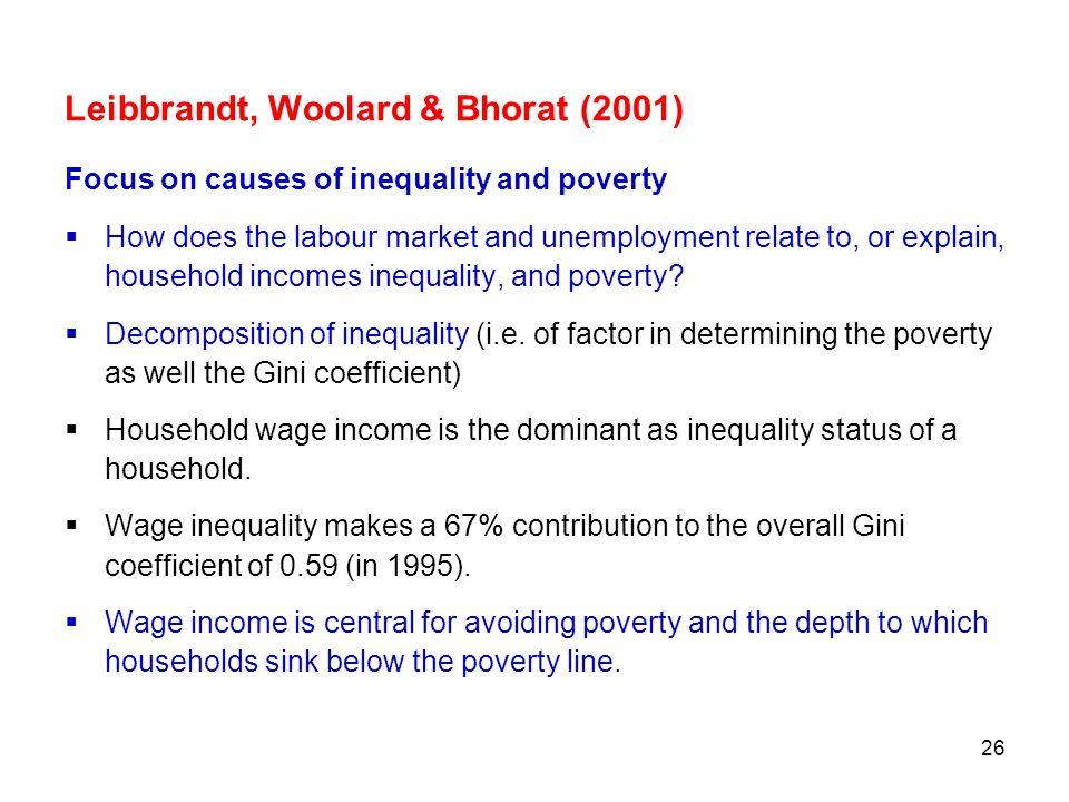 Leibbrandt, Woolard & Bhorat (2001)