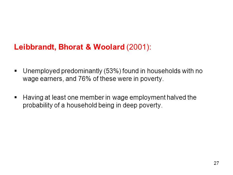 Leibbrandt, Bhorat & Woolard (2001):