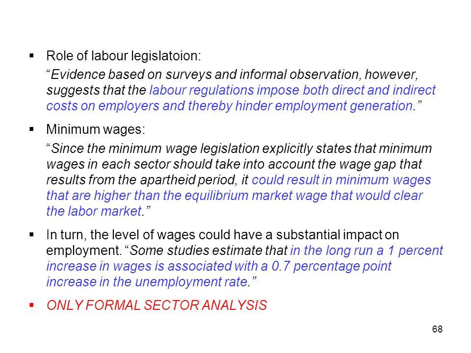 Role of labour legislatoion:
