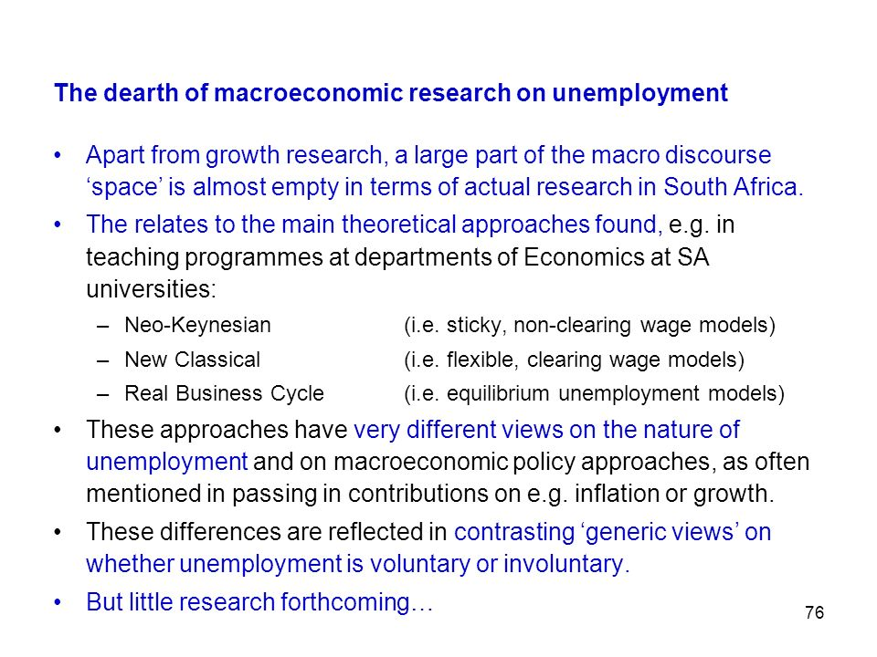 The dearth of macroeconomic research on unemployment