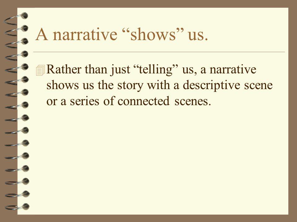 A narrative shows us.