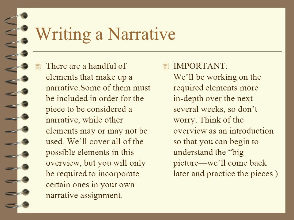 Writing a Narrative