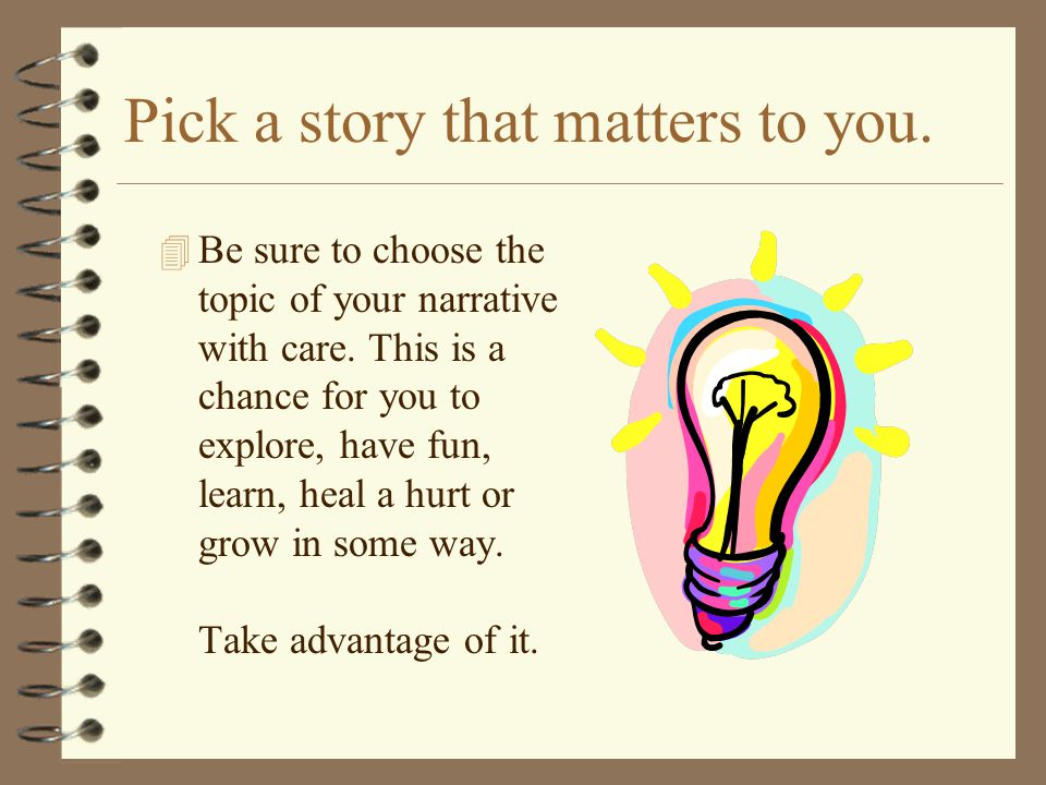 Pick a story that matters to you.