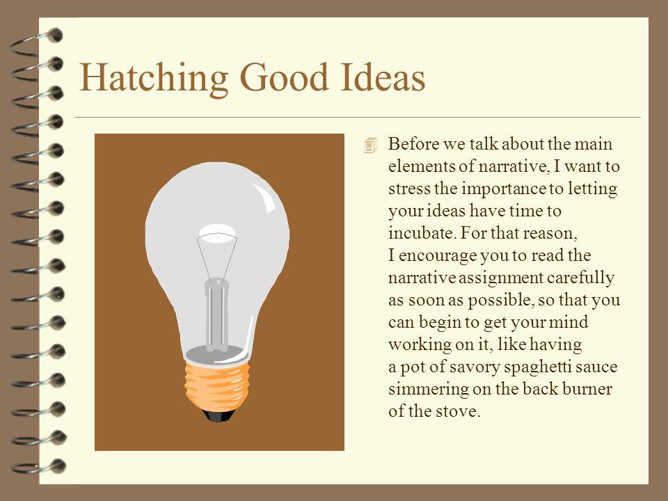 Hatching Good Ideas