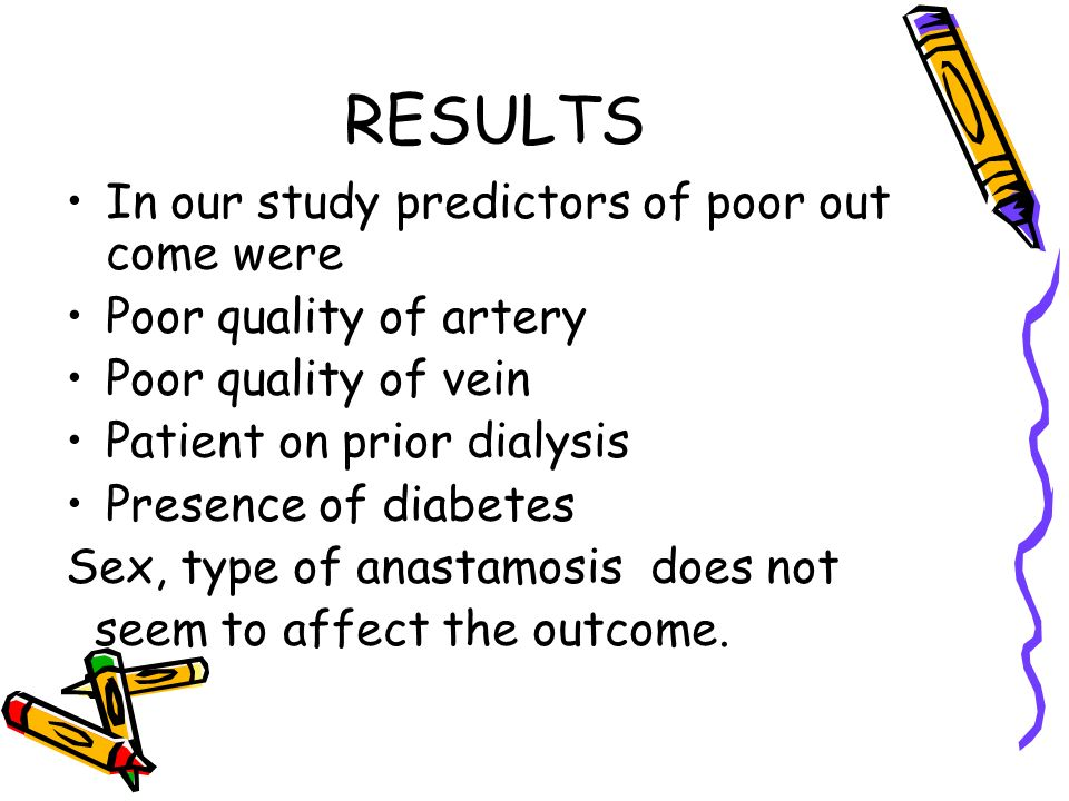 RESULTS In our study predictors of poor out come were