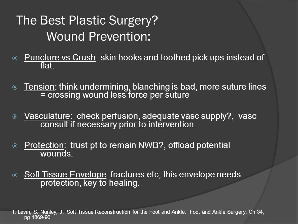 The Best Plastic Surgery Wound Prevention: