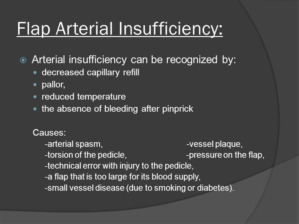 Flap Arterial Insufficiency: