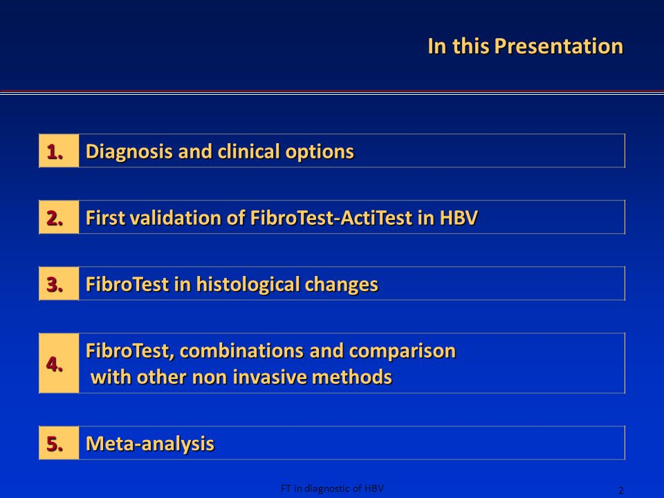 In this Presentation 1. Diagnosis and clinical options 2.