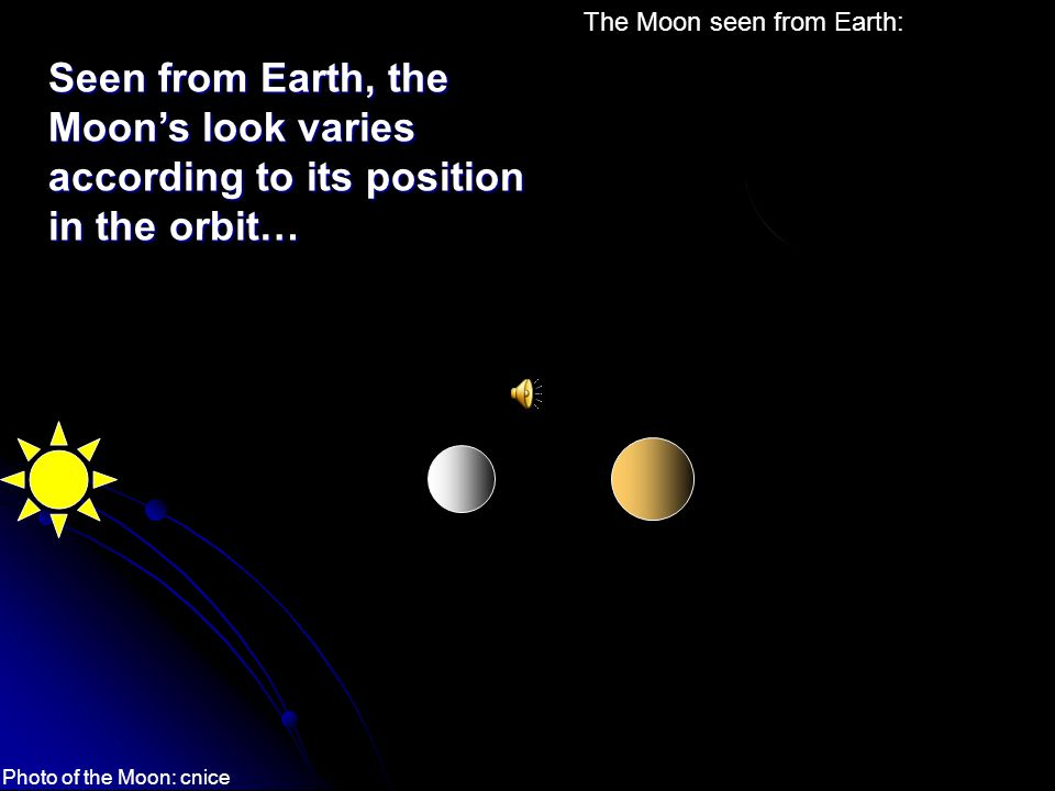 The Moon seen from Earth: