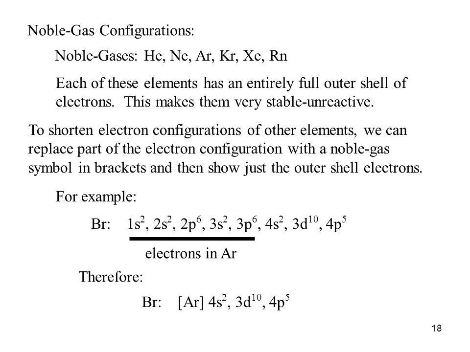 Noble-Gas Configurations:
