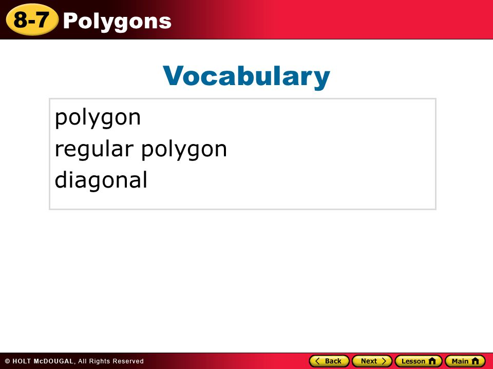 Vocabulary polygon regular polygon diagonal