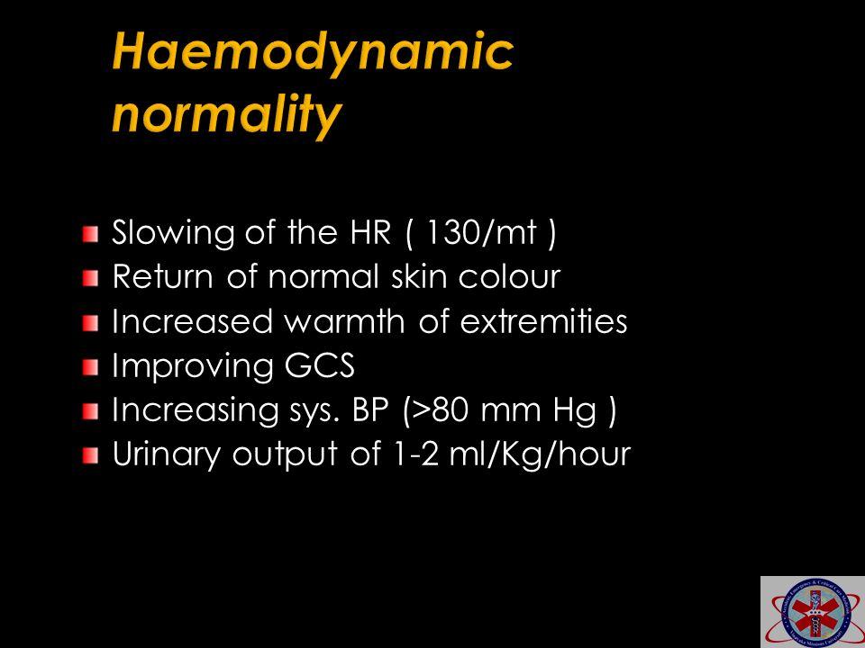 Haemodynamic normality
