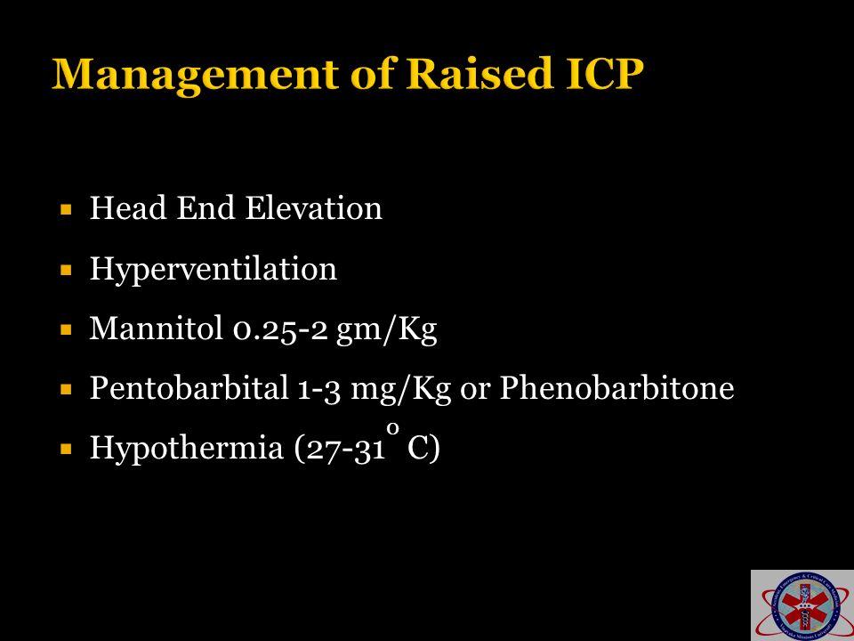 Management of Raised ICP