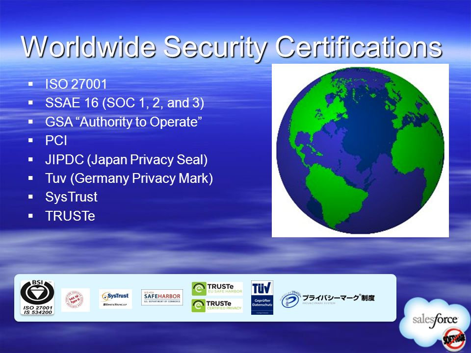 Worldwide Security Certifications