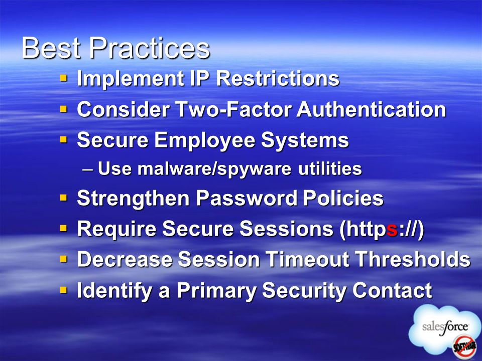 Best Practices Implement IP Restrictions