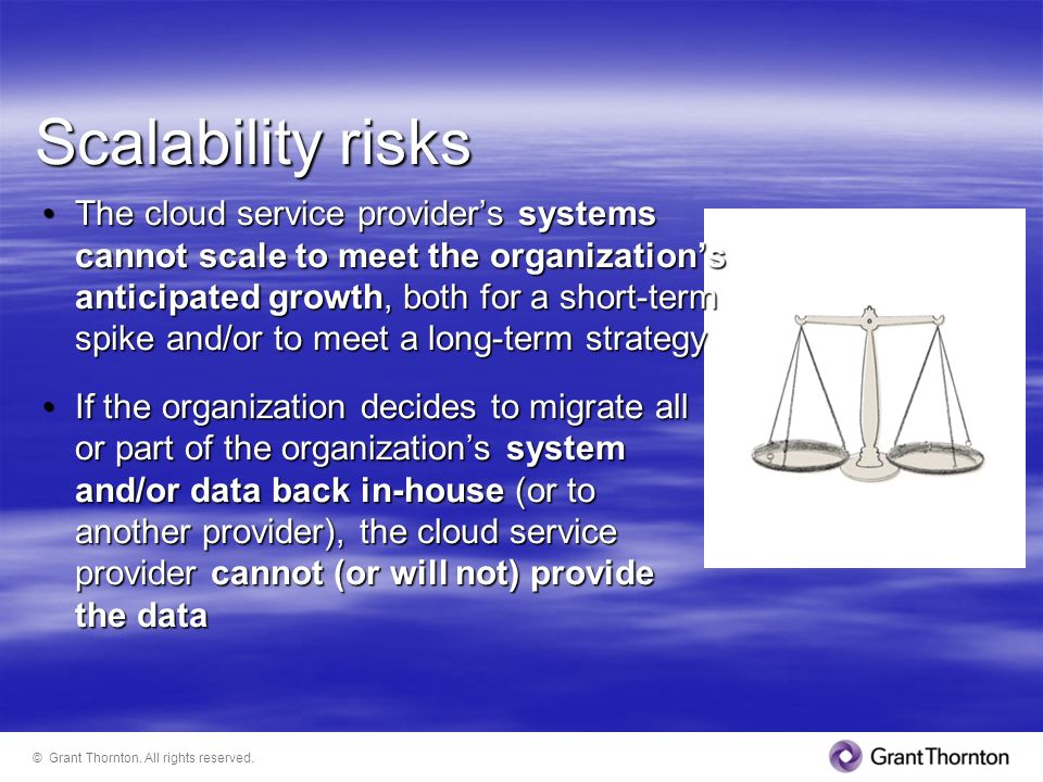 Scalability risks