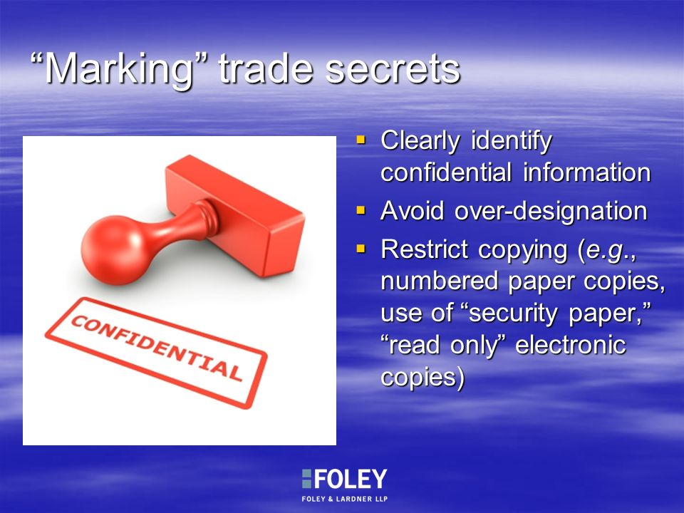 Marking trade secrets