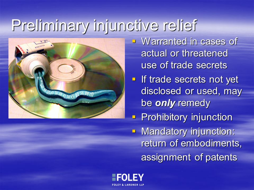 Preliminary injunctive relief