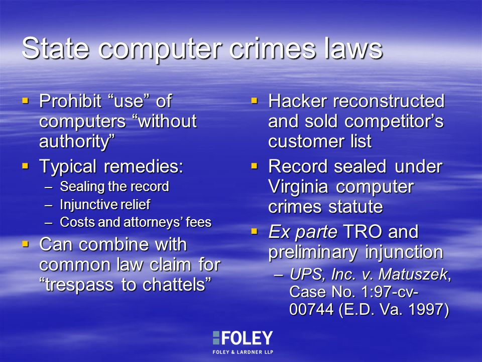 State computer crimes laws