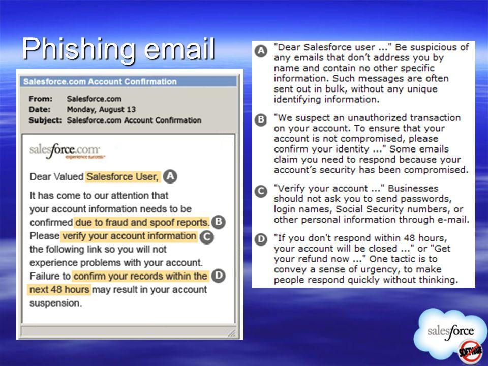 Phishing email 8 8