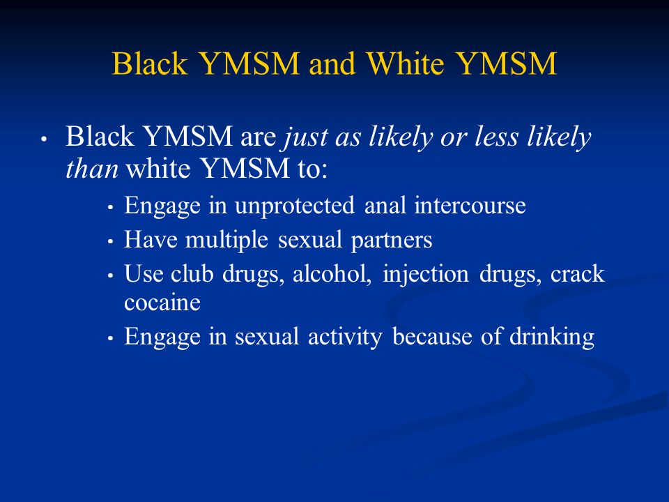 Black YMSM and White YMSM