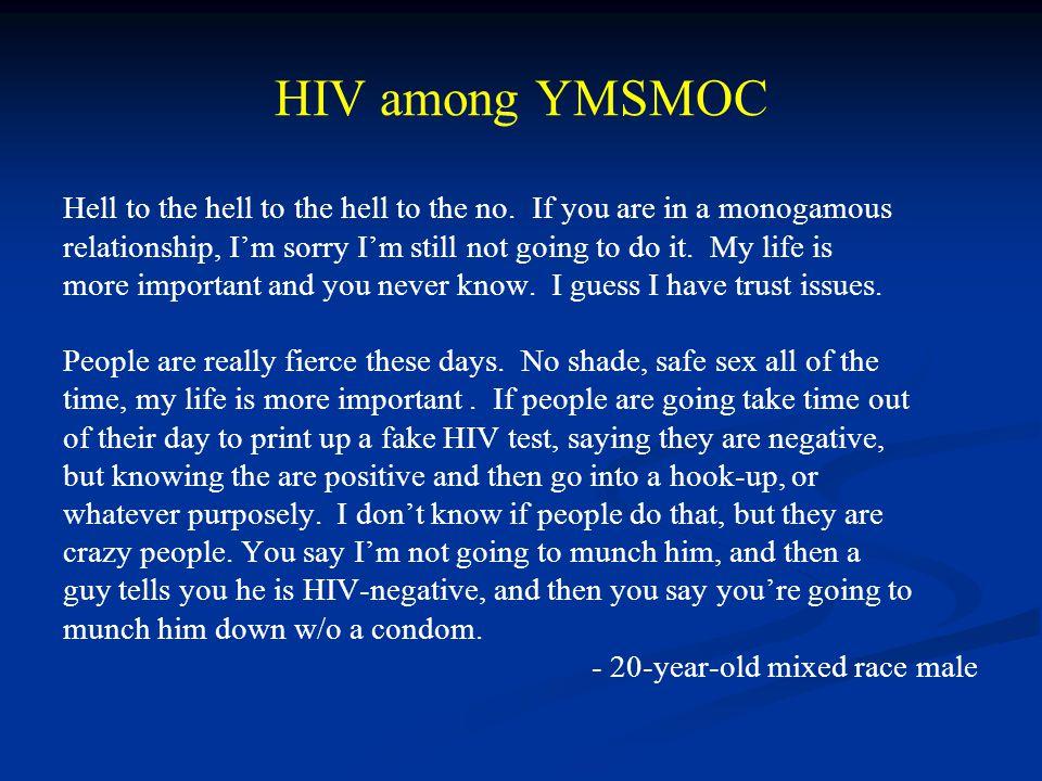 HIV among YMSMOC