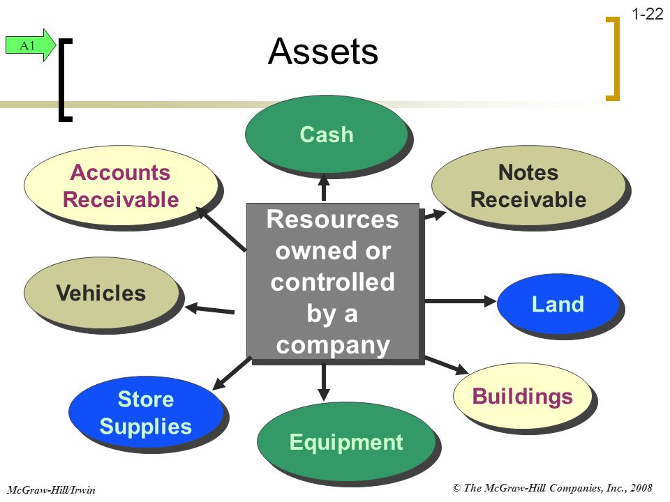 Resources owned or controlled by a company