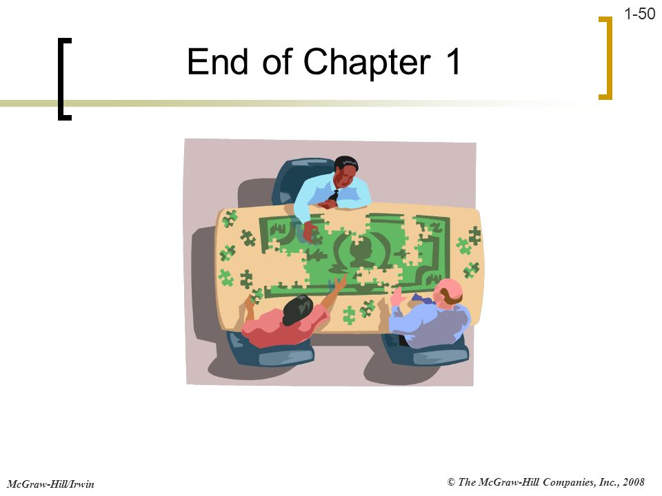 End of Chapter 1