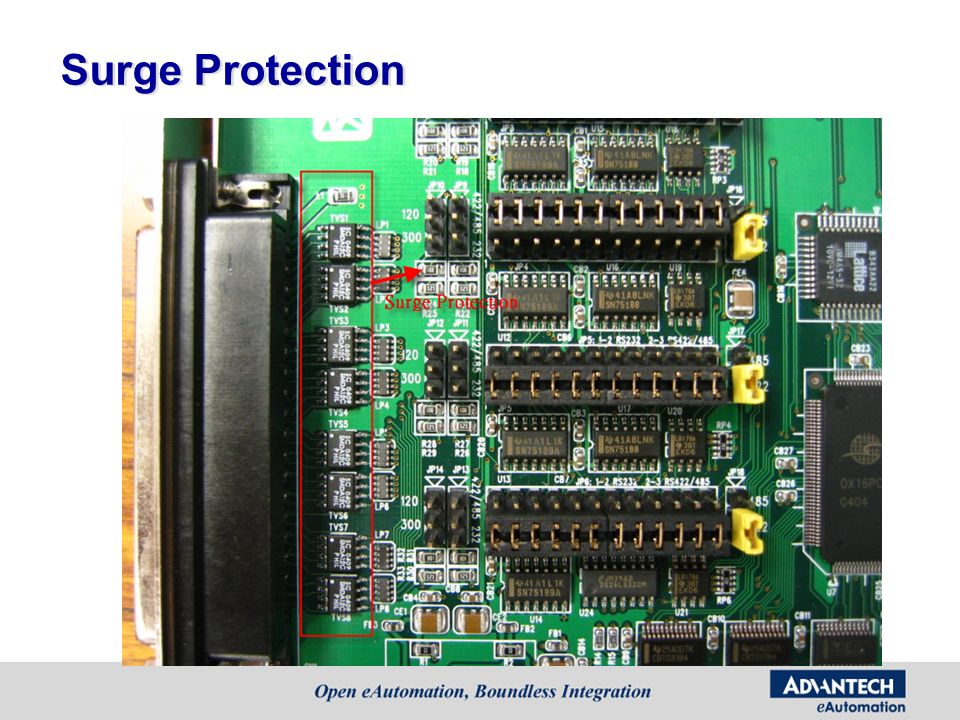 Surge Protection Surge protection is used by TVS component