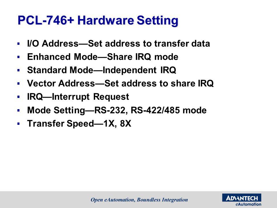 PCL-746+ Hardware Setting