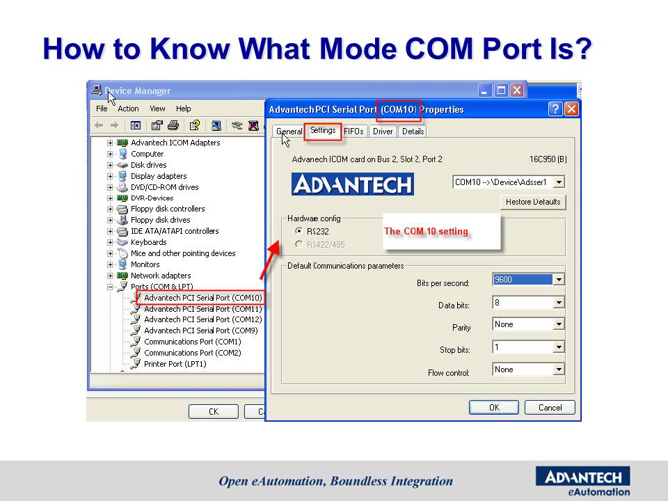 How to Know What Mode COM Port Is