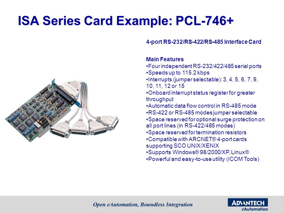 ISA Series Card Example: PCL-746+