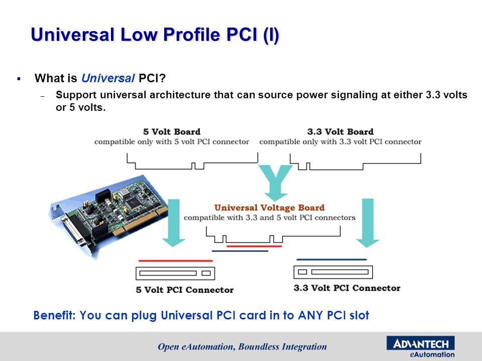 Universal Low Profile PCI (I)