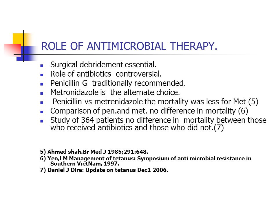 ROLE OF ANTIMICROBIAL THERAPY.
