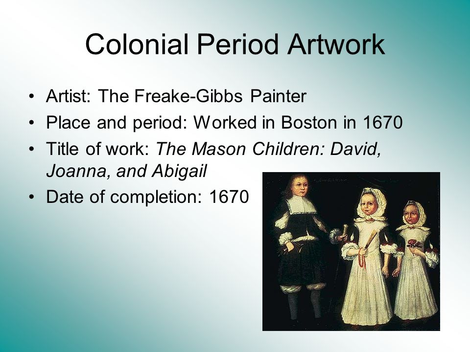 Colonial Period Artwork
