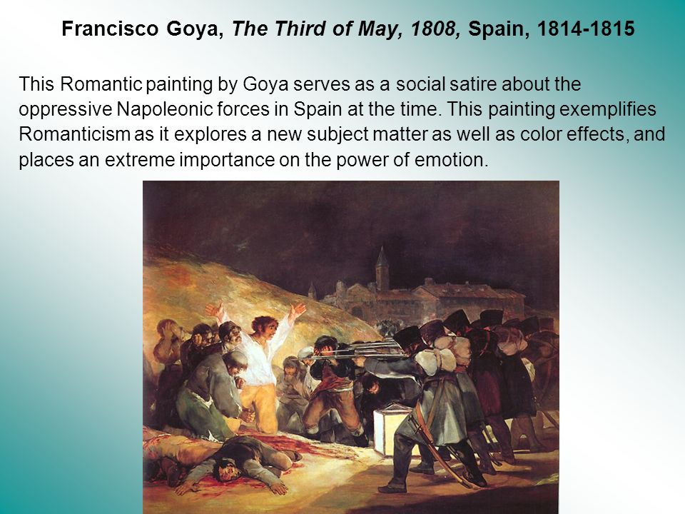 Francisco Goya, The Third of May, 1808, Spain, 1814-1815