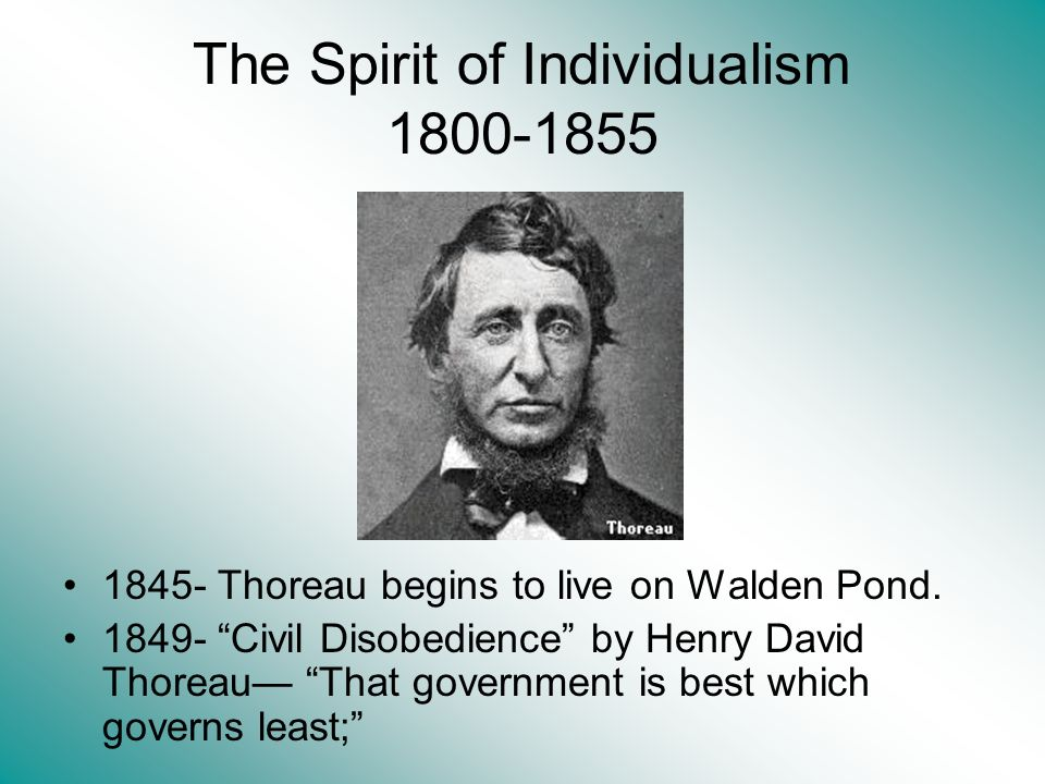 The Spirit of Individualism 1800-1855