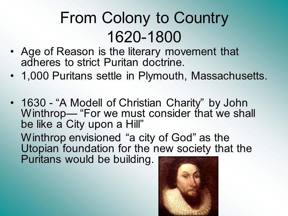From Colony to Country 1620-1800