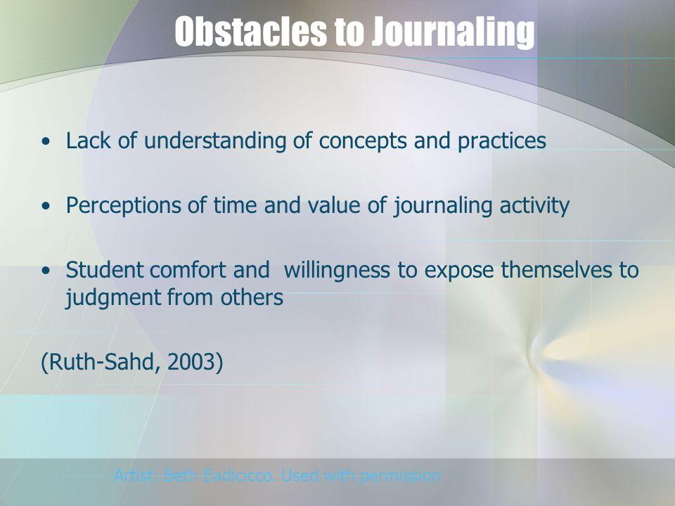 Obstacles to Journaling