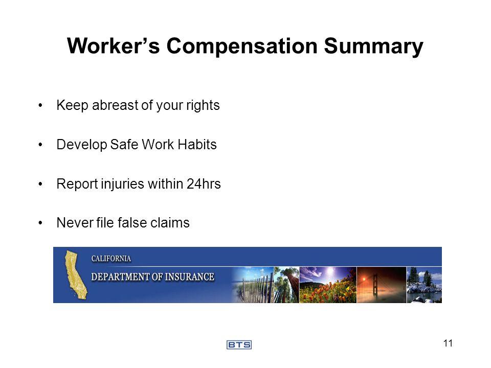 Worker's Compensation Summary