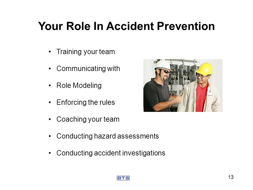Your Role In Accident Prevention