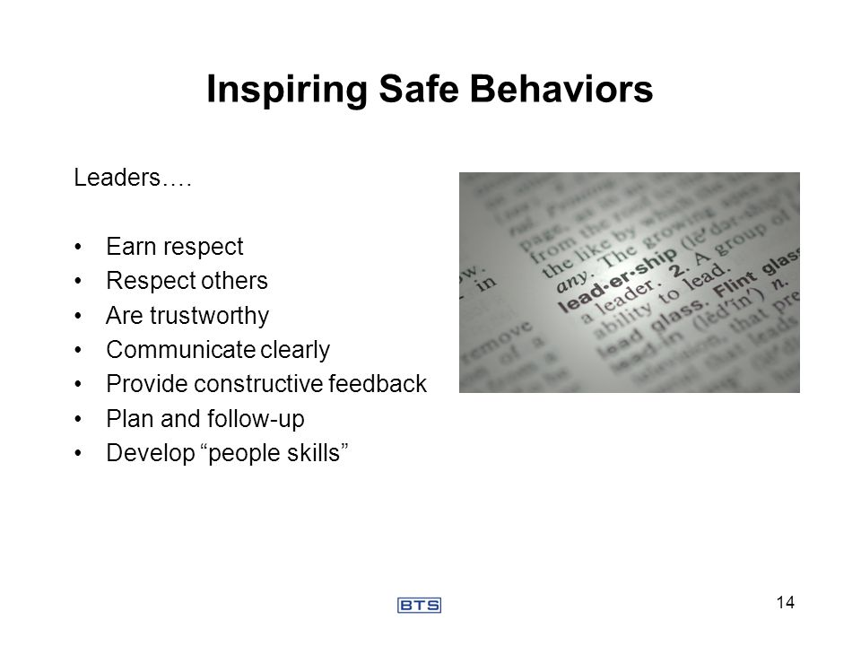 Inspiring Safe Behaviors