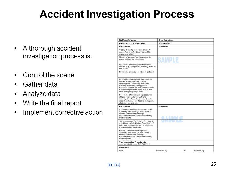 Accident Investigation Process