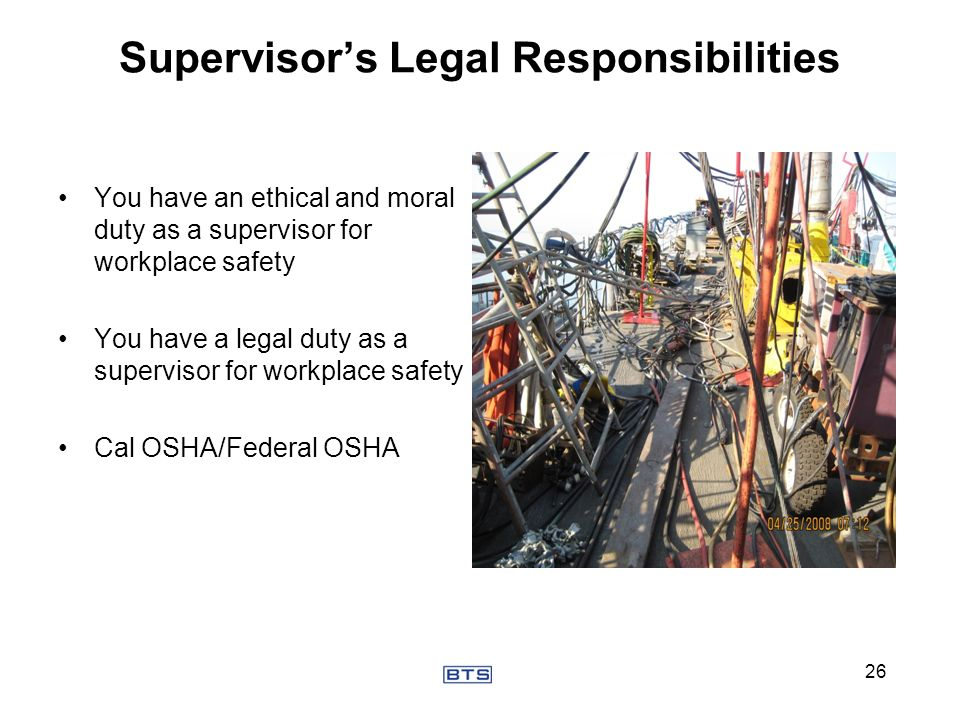Supervisor's Legal Responsibilities